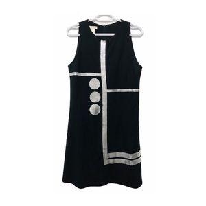 Retro Mod Shift Dress Jersey Chainmail Nana Baila